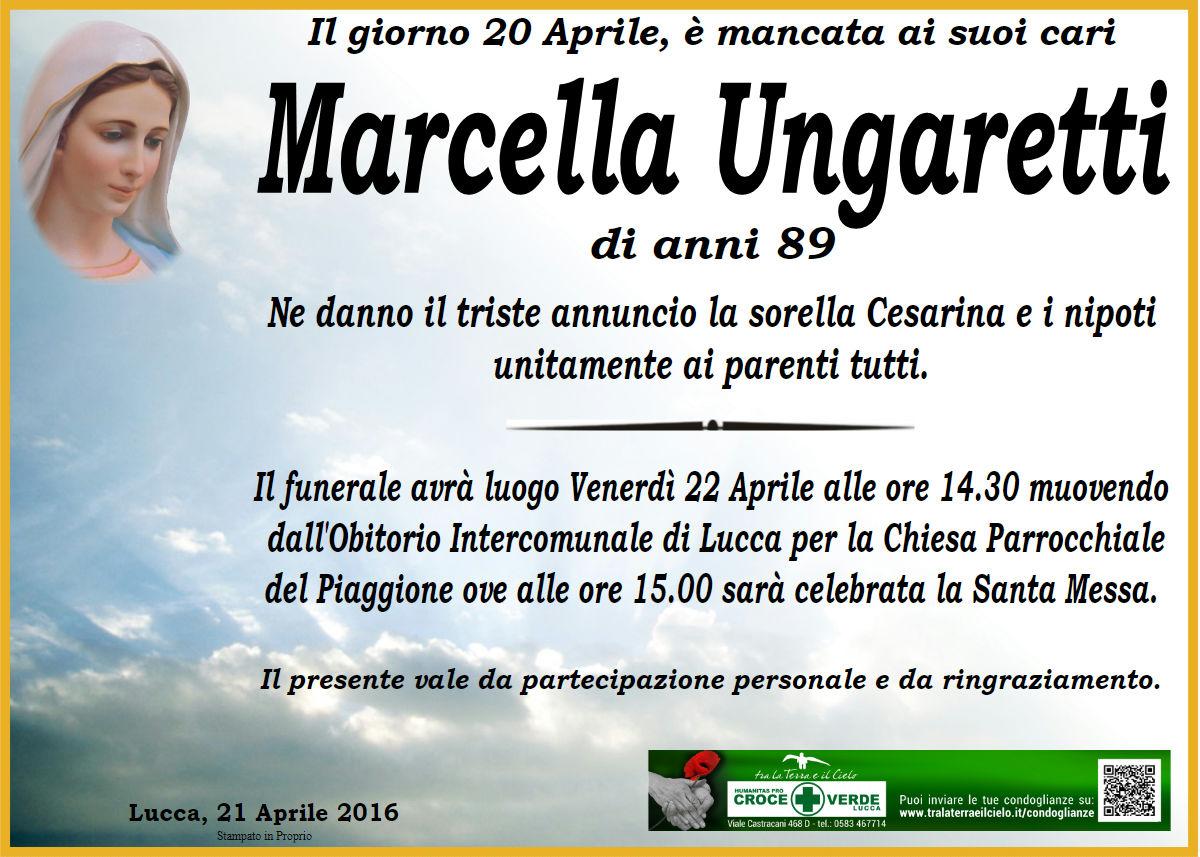 Marcella Ungharetti di anni 89