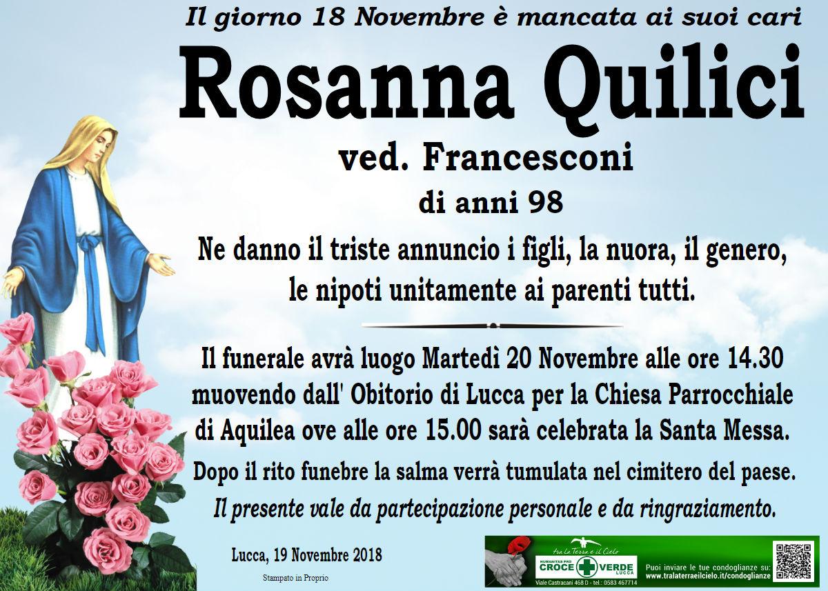 Rosanna Quilici ved. Francesconi